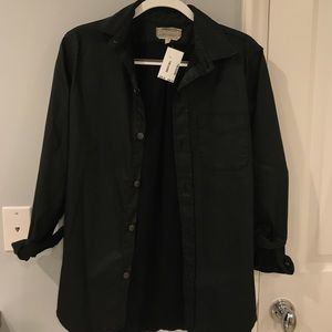 Current/Elliot leather button down - with tags!!